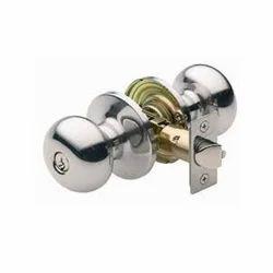 Brass Bedroom Doors Cylinder Door Lock, BRUSHED SILVER SS ANTIQUE, Size: Regular