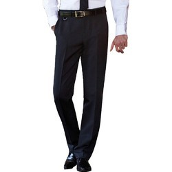 Black Cotton Corporate Trousers