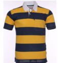 T Shirt With Yellow And Blue Solid Stripes