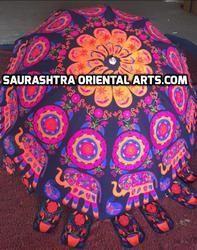 Embroidered Garden Umbrellas