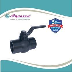 Solid Ball Black Long Handle Valve