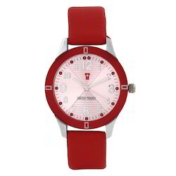 Women Casual Swiss Trend Watch with Pink Dial and Red Strap
