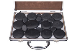 20pcs/set Hot Stone Body Message With Heating Carry Case