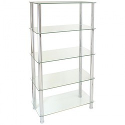 Free Standing Glass Shelving Unit