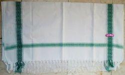 White Plain Cotton Jacade Towel, Size: 30*60 Inches