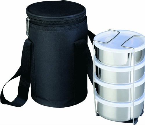 Black Promotional Tiffin Bags