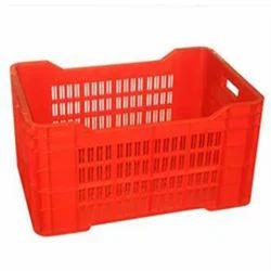 Rectangular Plastic Red Storage Crates, Capacity: 7 Litre