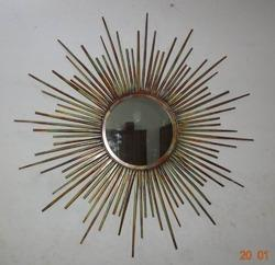 Golden Sun Aluminum Mirror Frame