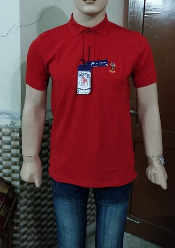 065bc80783eaf Red Cotton Linen U S Polo Assn T- Shirt