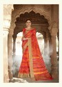 Casual Wear And Party Wear Border And Printed Organza Silk Saree, 6.3 M (with Blouse Piece