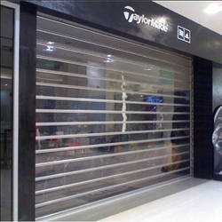 Full Height Transparent Rolling Shutter