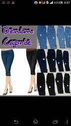 Ladies Denim Capri