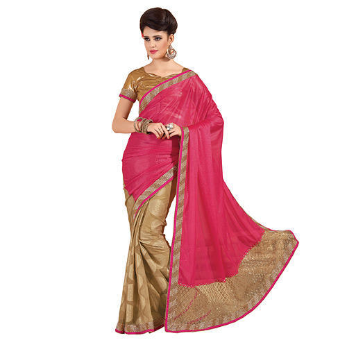 deb5348fbdd45 Cotton Embroidered Designer Fancy Saree