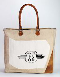 Printed White, Natural Cotton Colour Canvas Bag, Size: 1 Inch, 40 X 43 X 11 Cm, Packing Size: Text