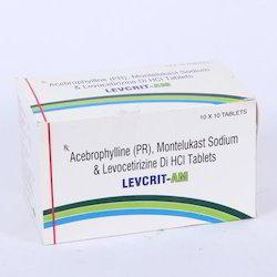 Acebrophylline(PR), Montelukast with Levocetirizine Sodium Tablets, Packaging Type: Alu-Alu