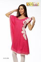Charming Embroidered Designer Tunic Kurti Top