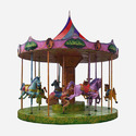 Carousel Amusement Ride Game - 10 Kids