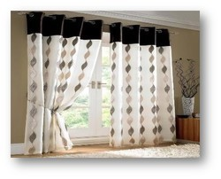 Polyester Eyelet Printed Curtain