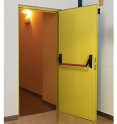 Horizon Yellow Fire Rated Steel Doors, Thickness (millimetre): 46 Mm, Size/Dimension: 1100mm X 2100mm