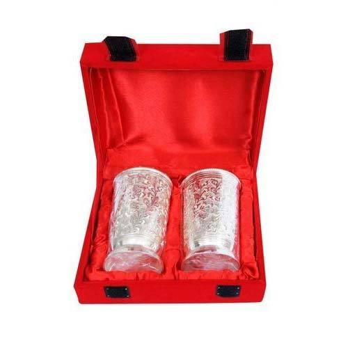 Noble handicraft gift articles surat manufacturer of silver silver plated glass set negle Image collections