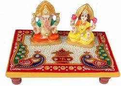 Marble Laxmi Ganesh Ji Choki Size 4 7 Inch Rs 150 Set Gaura Art Crafts Id 10539225812