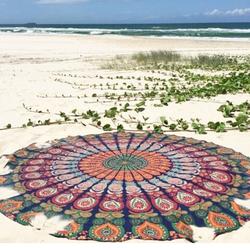 Indian Mandala Round Roundie Tapestry
