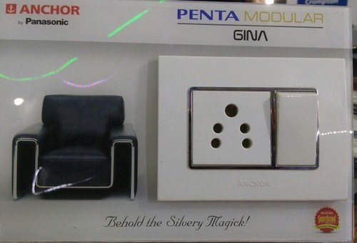 Anchor Penta Modular Electric Switch Amp Led Ceiling Panel