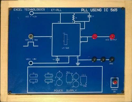 phased locked loop using ic 565, et-pll, for laboratory
