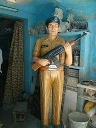 Army Soldier Marble Statue