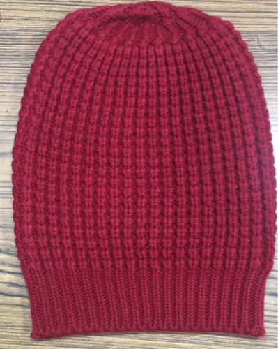 Red V P Oswal Woolen Beanie Cap