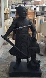Marble Chattarpati Shiva Ji Maharaj Statue