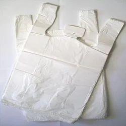 White Plain Plastic Carry Bags