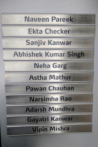 Office Directory Sliding Name Plate
