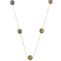 Labradorite Bezel Set Rosary Chain Necklace