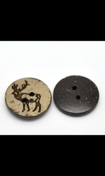 Coconut Shell Design Buttons