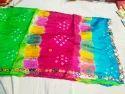 Bandhani Silk Mirror Work Dupatta