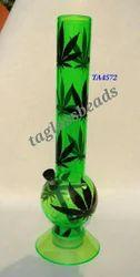 Acrylic Bong 12 Green Leaf Hookah
