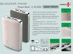 Leather Finish Power Bank