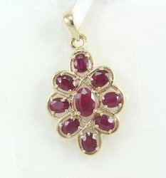 Ruby Yellow Gold Pendant