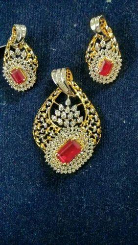 Nakkash jeweller diamond ruby pendant set rs 150000 piece id nakkash jeweller diamond ruby pendant set aloadofball Image collections