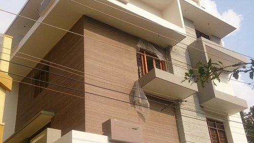 Wood Cladding Elevation : Outdoor wpc wall cladding elevation at rs piece j