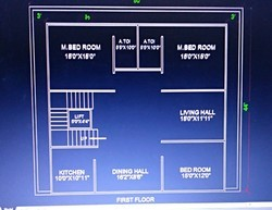 Building Construction Plan & Elevation