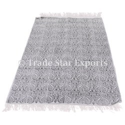 Indian Hand Block Print Carpet Durries