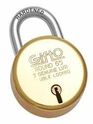Gifto Round 65 Brass Padlock