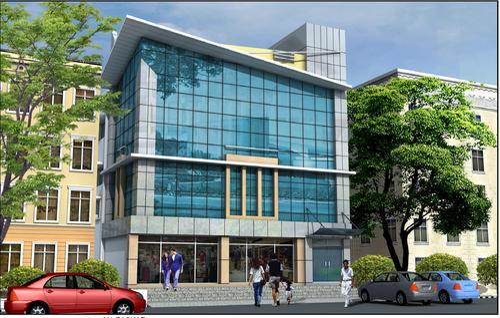 Aluminum Elevation Glass Railing at Rs 220 /square feet ...