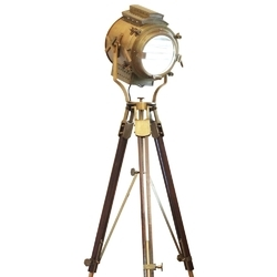 Vintage Retro Floor Focus Tripod Searchlight Lamps Spotlight