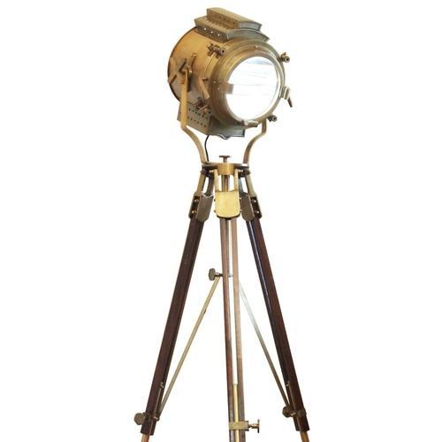 Vintage Retro Floor Focus Tripod Searchlight Lamps Spotlight ...