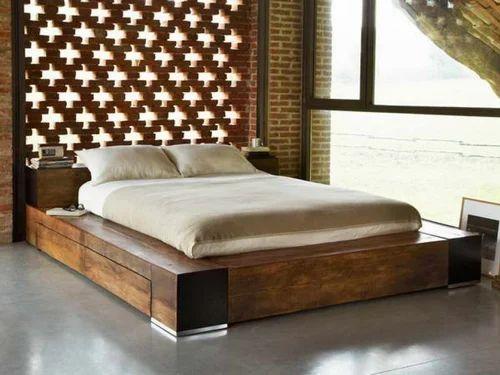Low Deck Wooden Bed