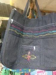 Printed Jeans Ladies Bag