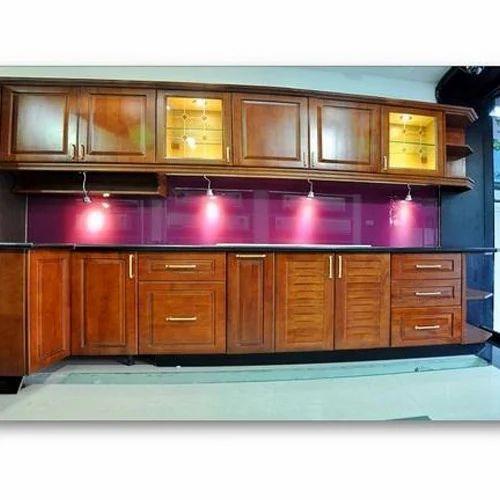 Aluminum Modular Kitchen Designing In Chromepet Chennai: Rubber Wood Modular Kitchen, Modular Wooden Kitchen, लकड़ी